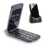 TTfone Venus 2 – Big Button Flip Mobile Phone Dual Screen Bluetooth Camera SOS Button Sim Free Black