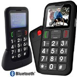 Mobiho Essentiel CLASSIC MAX – big button very easy to use SENIOR sim free unlocked mobile phone with GIANT COLOR EASY TO READ DISPLAY, SOS panic button, talking numbers, bluetooth, free docking station for charging