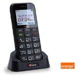 TTfone Saturn PAYG Big Button Bluetooth Senior Mobile Phone Camera (Orange Pay as you go, Black)