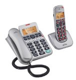 Binatone 3865 Speakeasy Combo Twin Big Button Telephones & Answering Machine