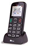 TTfone Mercury 2 Big Button Basic Senior Unlocked Sim Free Mobile Phone with Dock – Black