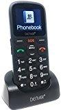 Denver Big Button GSP-120 Elder Cellphone with SOS Quick Call Button, SIM Free Unlocked, Torch & Radio